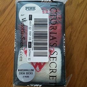 Victoria's Secret gift set, marshmallow crew socks